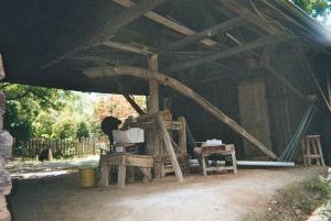 Horse-driven pug mill at Jugtown Pottery