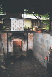 Groundhog kiln built by Sid Luck of Luck's Ware