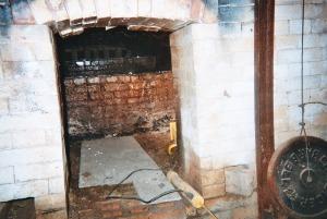 Interior of Sid Lucks groundhog kiln